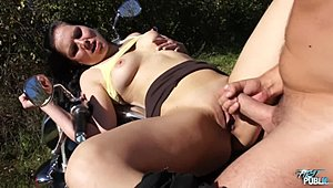 MyFirstPublic - unchaste talking youth fucked stiff in out-of-doors byy muscle biker XXX Movies