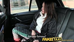 FakeTaxi brown-haired thrills a large thick prick XXX
