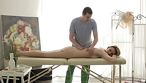 I slammed Her all in all - They make a horny anal sexual intercourse on massage table
