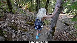 DadCrush - My Stepdaddy has sexual intercourse Me in Nature